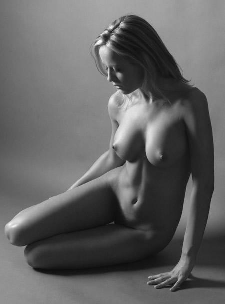 Black and white naked model