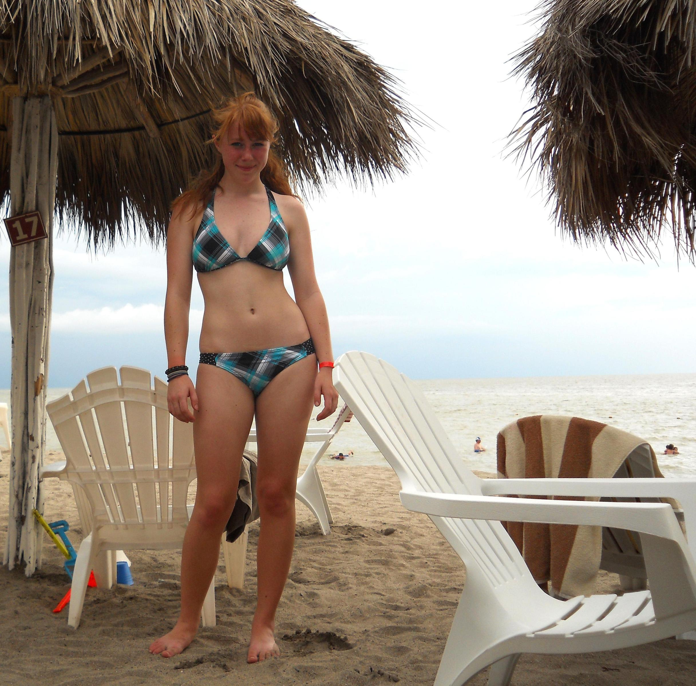 Redhead in bikini