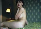 Shy girl exposing her naked body