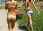 College girls caught naked walking in campus